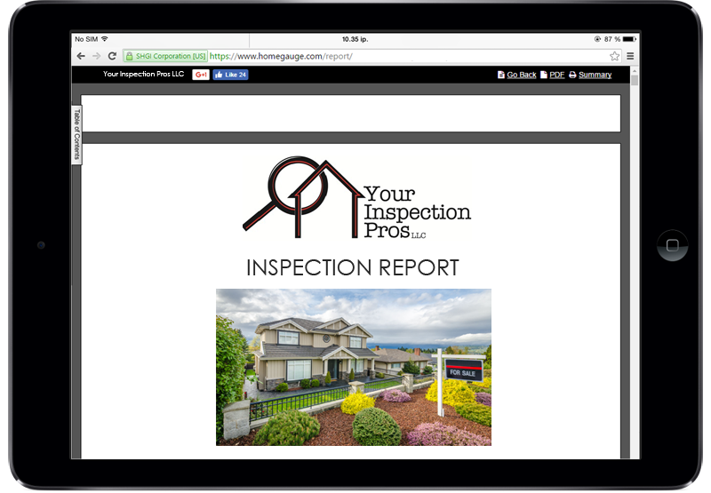 Your Home Inspection Pros LLC Utah Report